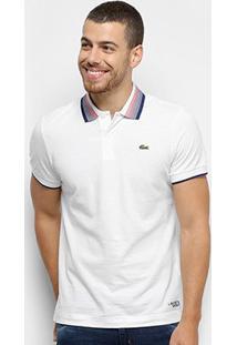 Camisa Polo Lacoste Sport Super Leve Masculina - Masculino-Branco