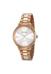 Relógio Feminino Mondaine 53761Lpmkre2 Analógico 5Atm + Semijoia | Mondaine | Rosa | U