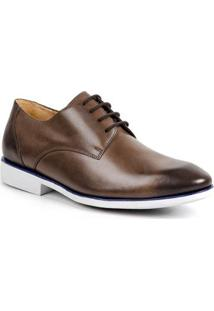 Sapato Social Derby Sandro&Co Lourenço Masculino - Masculino-Marrom-Claro