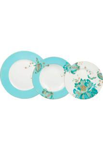 Aparelho De Jantar Eliza Spring Blue Porcelana 18 Peças - 102439