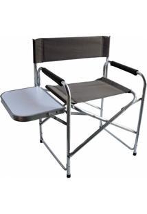 Cadeira Dobrável Nautika Diretor Com Mesinha Lateral - Unissex-Verde