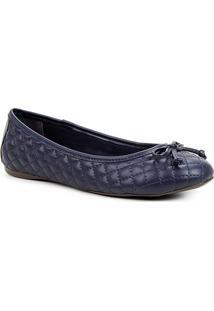 Sapatilha Shoestock Clássica Matelassê Feminina - Feminino-Marinho