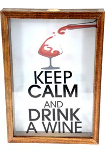 Quadro Decorativo Tabaco Porta Rolhas Drink Wine Prolab Gift - Marrom - Dafiti