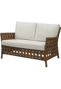 Sofa Ceres 2 Lugares Estrutura Aluminio Revestido Em Fibra Cor Madeira - 44654 Sun House