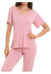 Pijama Longo Liganete Sepie (1052) Rose