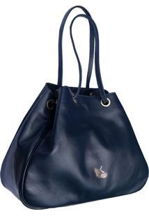 Bolsa Line Store Leather Sacola Marinho Judd - Kanui
