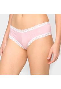 Calcinha Hot Pants Hering Rendada - Feminino