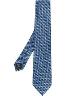 Ermenegildo Zegna Gravata Com Padronagem - Azul