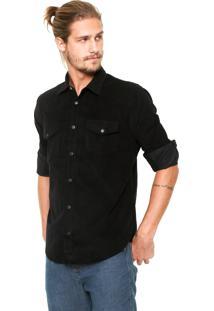 Camisa Reserva Regular Western Preta