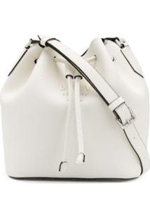 Dkny Bolsa Bucket Com Cordão De Ajuste - Branco