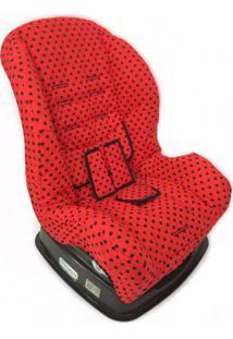 Capa Para Cadeira - Vermelho Bola Preta