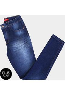 2a0ea41ff R$ 99,99. Netshoes Calça Jeans Plus Size Biotipo Alice Skinny Cintura Alta  Bigode Feminina ...