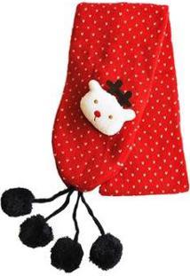 Cachecol Ania Store Rudolph - Feminino-Vermelho