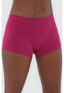 Calcinha Malwee Liberta Boxer Sem Costura Rosa