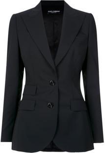 Dolce & Gabbana Blazer Com Recortes - Preto