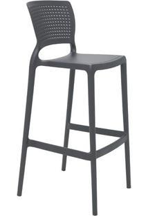 Cadeira Alta Safira- Cinza- 104X49,5X47Cm- Tramotramontina