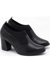 Ankle Boot Comfortflex Vi Feminino - Feminino-Preto