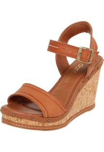 Sandália Dafiti Shoes Pespontos Caramelo