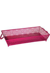 Bandeja Le Fleur- Pink- 10X50X30Cm- Btc Decorbtc Decor