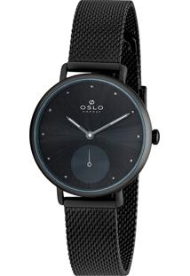 Relógio Oslo Feminino - Ofpsssvd0001 P1Px - Preta