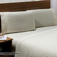 fb01228017 Jogo De Cama Stripe Solteiro- Off White- 3Pçs- 3Niazitex