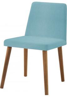 Cadeira Ghog Azul Base Natural - 50583 - Sun House