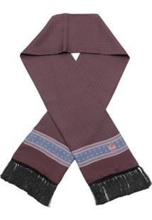Dolce & Gabbana Lenço De Seda Estampado - Marrom