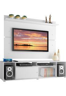 Rack Madesa Cancun E Painel Para Tv Atã© 65 Polegadas - Branco Branco - Branco - Dafiti