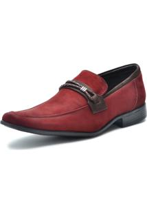 Sapato Social Over Boots Couro Vermelho Italy