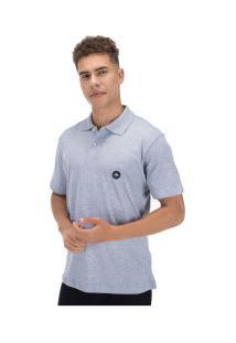 Camisa Polo Hd Estampada Simple 5653A - Masculina - Cinza