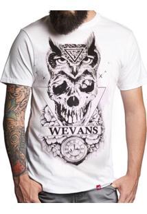 Camiseta Caveira Coruja Tattoo - Masculino