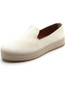Slipper Dafiti Shoes Pesponto Off-White - Kanui