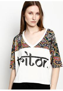 "Camiseta ""Triton"" - Branca & Verde Escuro - Tritontriton"