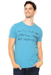 Camiseta Aramis Regular Fit Listras Azul