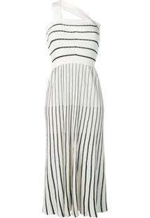 Sonia Rykiel Vestido De Tricô Canelado - Branco