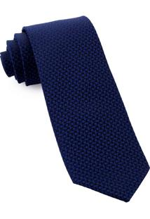 Gravata De Seda Classic Blue - Sd56