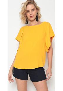 Blusa Com Vazado & Faixas - Amarela & Preta - Morenamorena Rosa