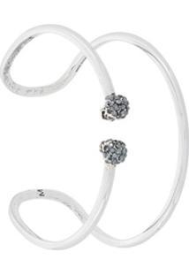 Alexander Mcqueen Bracelete Com Caveiras - Metálico