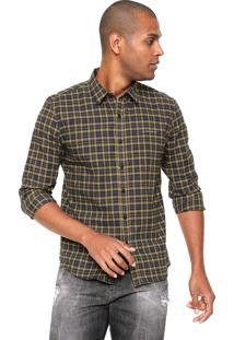 Camisa Ellus 2Nd Floor Wayne Check New Cinza/Amarela