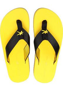 Chinelo Kenner One Colors Masculino - Masculino-Preto+Amarelo