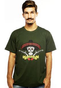 Camiseta Hardivision Hombre Verde Militar