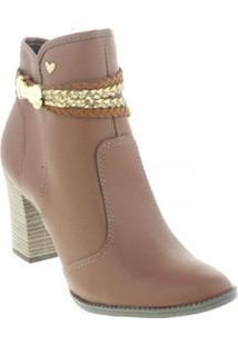 Bota Ankle Boots Mississipi Feminina - Feminino-Marrom