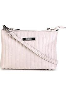 Bolsa Santa Lolla Mini Bag Mestiço Matelassê Feminina - Feminino-Off White