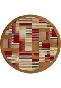 Tapete Redondo Veludo Marbella Illusione Artistic Caramelo 150X150 Cm