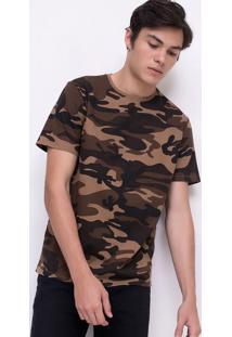 Camiseta Estampada Camuflada