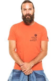 Camiseta Sommer Bolso Laranja