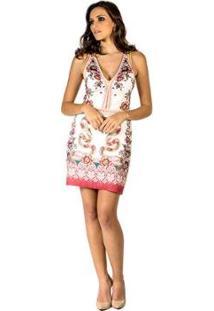 Vestido Snake Garden Colcci - Feminino-Branco