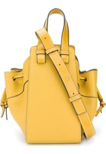 Loewe Hammock Logo Bucket Bag - Verde