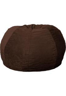 Puff Confort Maçã Suede Marrom Escuro 100 Cm