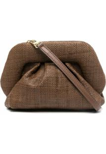 Themoirè Gea Raffia Clutch - Marrom